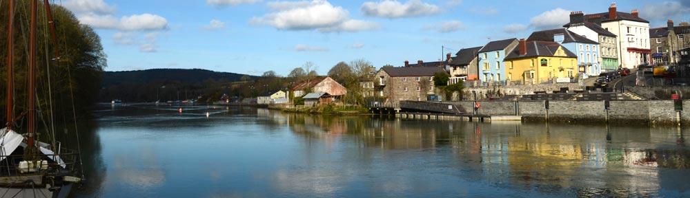 Cardigan Town and Teifi Estuary